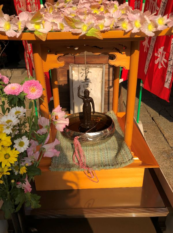 新京極の永福寺さんで花祭り1_2020