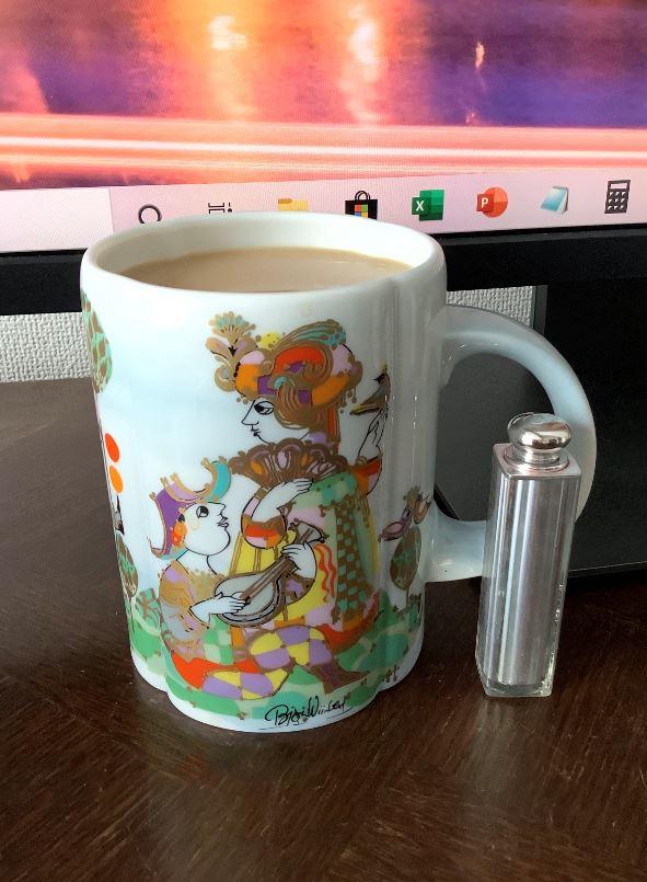 ビアマグカップで珈琲1