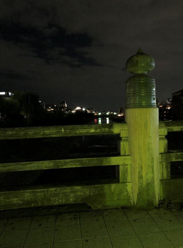 先斗町の灯と三条大橋