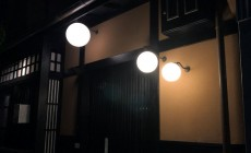 京都白川の灯り