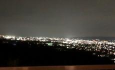 露天風呂からの奈良の夜景