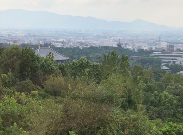 ANDOHOTEL奈良若草山からの景色